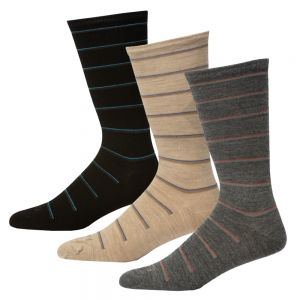 MENS NON TIGHT STRIPED WOOL SOCK PACK