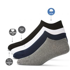 MENS 4PK CASUAL COTTON ANKLET SOCKS