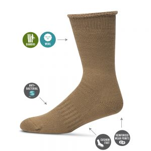 BAMBOO & MERINO WOOL ULTIMATE WORK SOCK  *BUY 4 & RECEIVE A SURPRISE PAIR FREE*