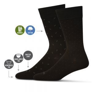 Bamboo Dress Socks in a Twin Pack by Pussyfoot Socks