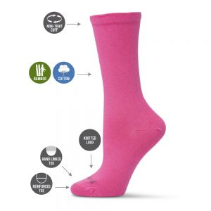 WOMENS NON TIGHT BAMBOO HEALTH SOCK *BUY 3 & RECEIVE A SURPRISE PAIR FREE*