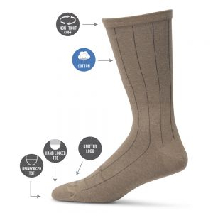 MENS NON TIGHT BROAD RIB SOCK