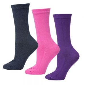 WOMENS CUSHIONED NON TIGHT SOCK PACK