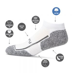 Womens 3pk Bamboo Sports Socks