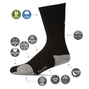 MENS CROSS TRAINER CREW SOCK