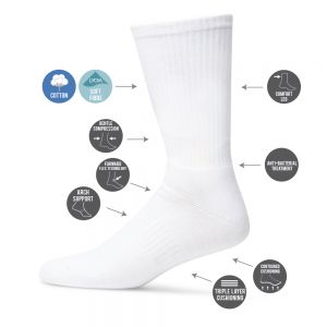 MENS TECHNO SPORTS CREW SOCK