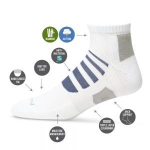 MENS STRIPED TECHNO SPORTS PED SOCK