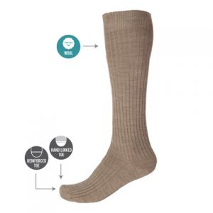 RIBBED KNEE HIGH WOOL SOCK