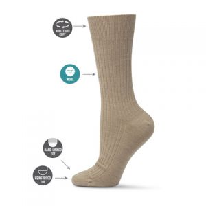 Womens wool blend non elastic socks