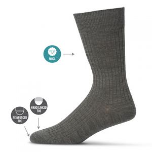 RIBBED WOOL BUSINESS SOCK