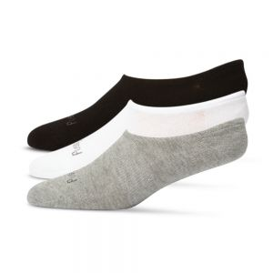 BAMBOO 3PK FOOTLET / NO SHOW SOCKS - ASSORTED