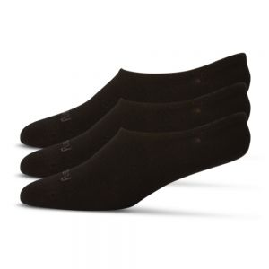 BAMBOO 3PK FOOTLET / NO SHOW SOCKS - BLACK