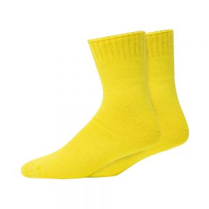 2PK BAMBOO WORK SOCKS - YELLOW/YELLOW