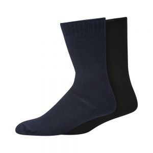 2PK BAMBOO WORK SOCKS - NAVY/DENIM