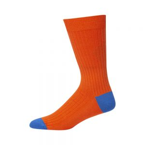MENS ORANGE BAMBOO CLASSIC SOCK