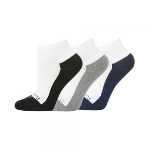 KIDS 3PK ANKLE SOCK – NVY/GRY/BLK
