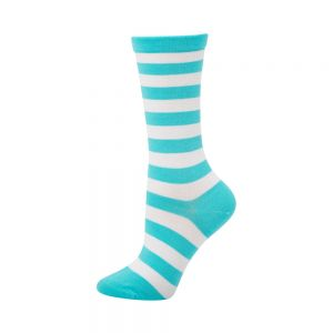WOMENS NON TIGHT STRIPE HEALTH SOCK - TIFFANY