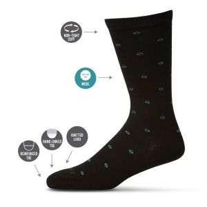 Wool Blend Non Elastic Patterned Socks