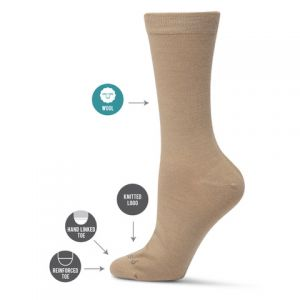 WOOL BLEND BUSINESS SOCK